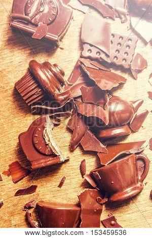 Chocolate Tableware Destruction