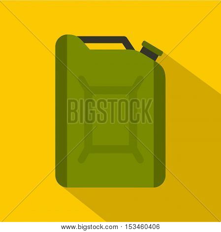 Flask for gasoline icon. Flat illustration of flask for gasoline vector icon for web