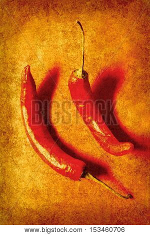 Vintage Hot Curry Peppers