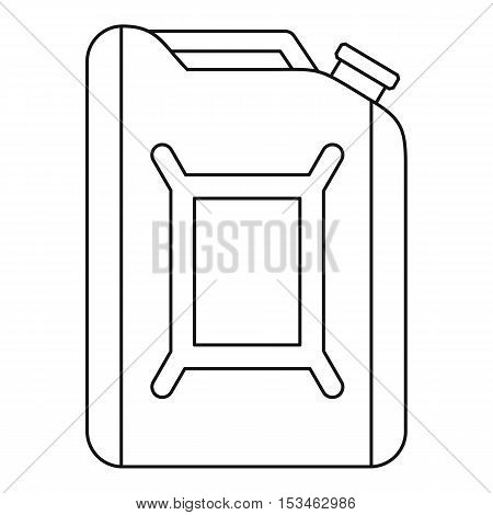 Flask for gasoline icon. Outline illustration of flask for gasoline vector icon for web