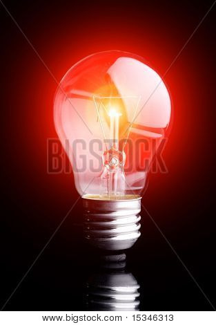Photo of light bulb on black