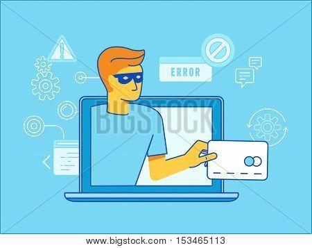 Hacker Stealing Credit Card Data