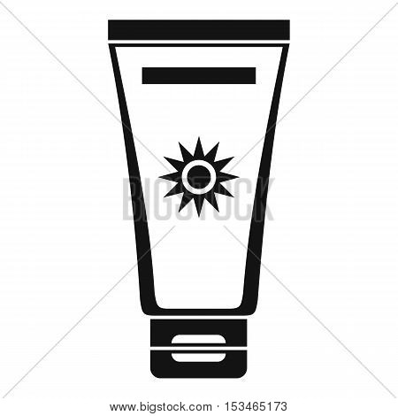 Cream sun protection icon. Simple illustration of cream sun protection vector icon for web