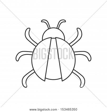 Bug icon. Insect pest bed and internet theme. Isolated design. Vector illustration