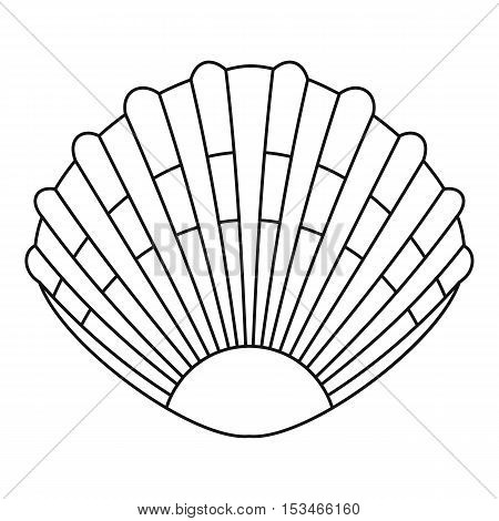 Pearl shell icon. Outline illustration of pearl shell vector icon for web