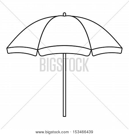 Beach umbrella icon. Outline illustration of beach umbrella vector icon for web