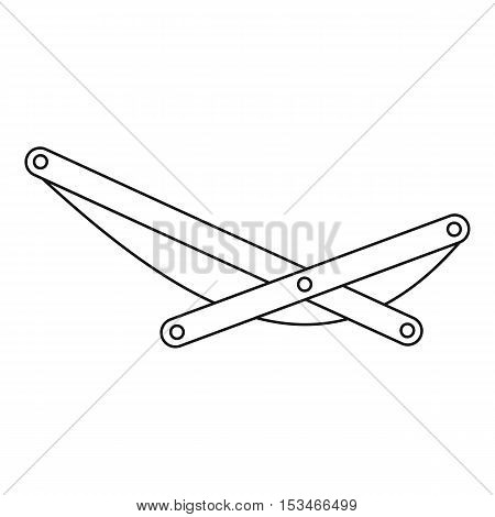 Beach chaise icon. Outline illustration of beach chaise vector icon for web