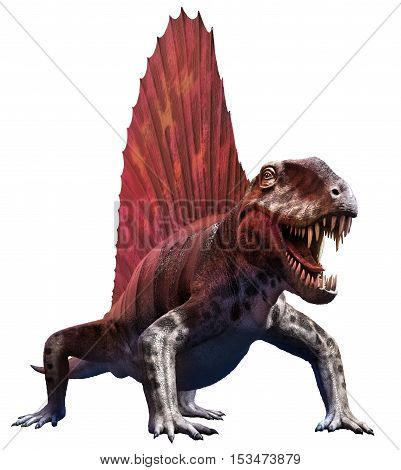 Dimetrodon from the Permian era 3D illustration