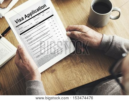 Digital Visa Application Form Concept