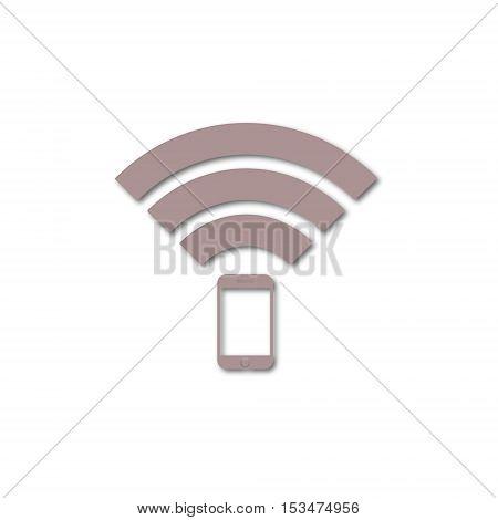 Signal symbol,Wireless, wifi icon on white background