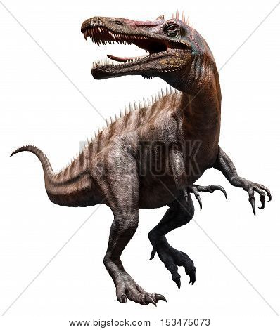 Suchomimus from the  cretaceous era 3D illustration