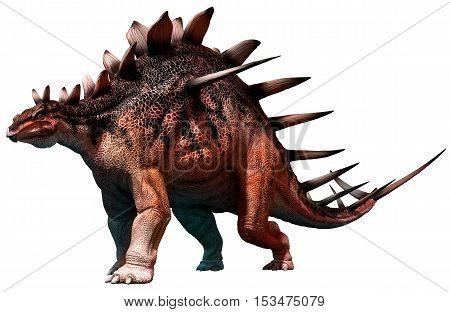Kentrosaurus from the Jurassic era 3D illustration