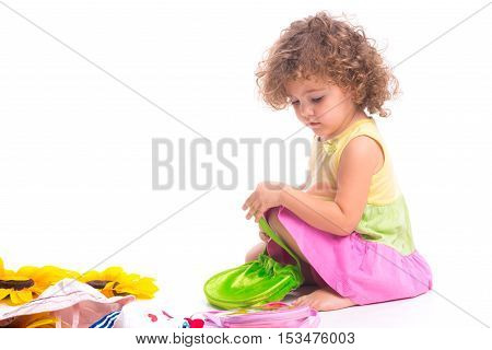 Sweet Female Child Playing
