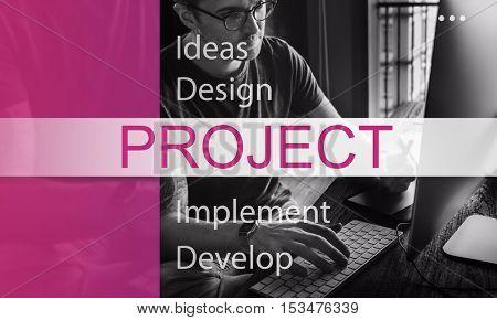 Project Plan Estimate Management Task Strategy Concept