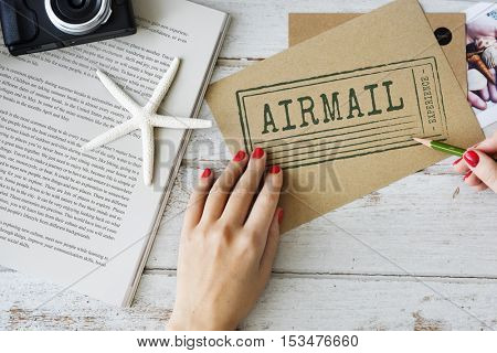 Global Communication Airmail Delivery Concept