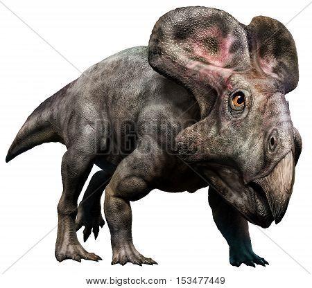 Protoceratops from the Cretaceous era 3D illustration