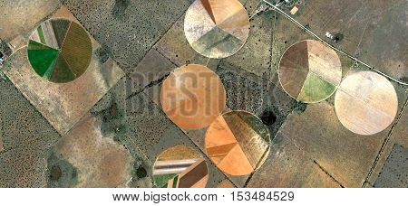 forms of human work in desert, nature imitating art,Abstract photography of landscapes of deserts of Africa from the air