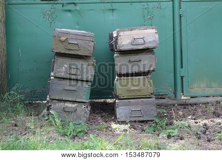 Military boxes / These are military boxes for ammunition or equipment.