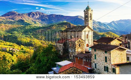 Pictorial small village in mountains - Castelcanafurone, Emilia-Romagna,Italy