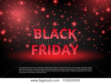Black Friday sale. Banner special offer. Template ad. Christmas shopping. New Year discounts. Holiday sale. Personal proposal. Vector illustration
