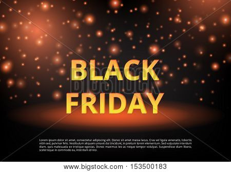 Black Friday discounts. Banner Christmas offers. Template ad. Christmas shopping. New Year sale. Personal proposal. Vector illustration