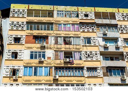 Soviet-era apartment building in centre of Tashkent - Uzbekistan