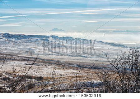 Beautiful valley in Caucasus mountains Strizhament. North Caucasus. Russia