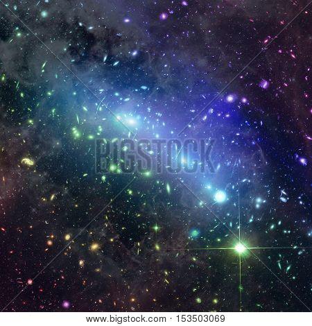 Kaleidoscope Of Galaxy Clusters In The Constellation Eridanus