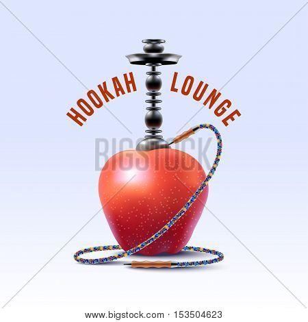 Hookah vector logo icon symbol emblem sign. Unique template graphic design element for menu of hookah lounge bar vintage style insignia