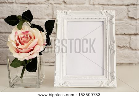 Frame Mockup. White Frame Mock Up, Digital Mockup, Display Mockup, Styled Stock Photography Mockup,