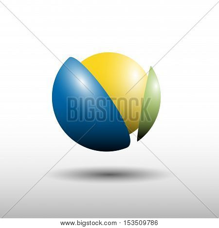 Vector logo break a ball synergy, illustration isolated