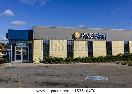 Anderson - Circa October 2016: PNC Bank Branch. PNC Financial Services offers Retail Corporate and Mortgage Banking VII