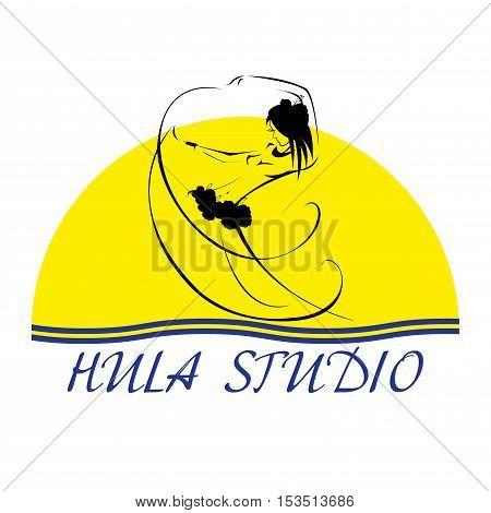 Hawaii vector logo design template. Hula studio icon.
