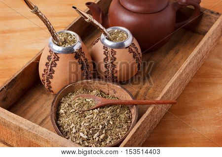 Mate In A Traditional Calabash Gourd With Bombilla