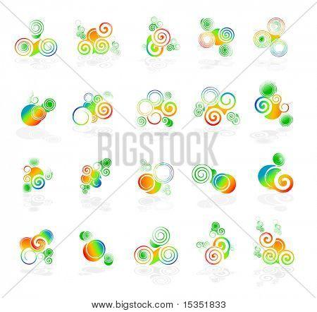 Farbe-Wirbel-Design-Elemente