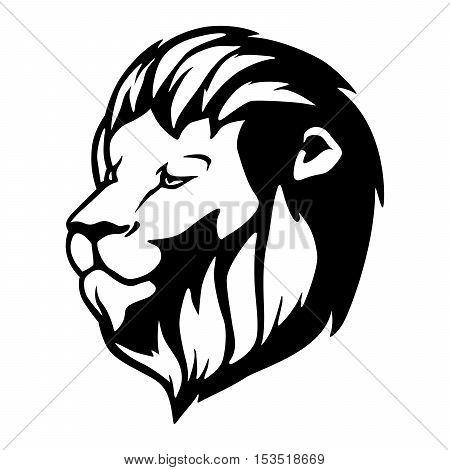 Lion Vector Head Royalty Tattoo Feline Wild Mascot Logo