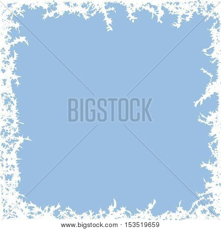 vector winter frost background with copy space