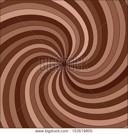 vector abstract background of dark and milk chocolate swirl