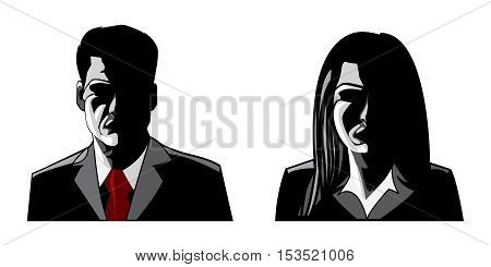 Man and Woman profile User Job Icon Avatar Model Admin