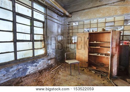 Abandoned industrial office