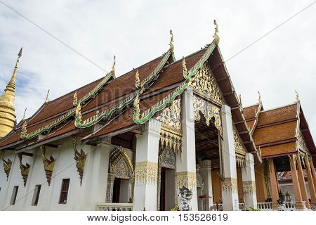 Ancient temple is in the north of thailand