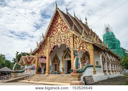 Popular temple is in norht of thailand