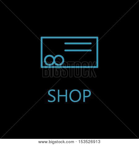 Web line icon. Credit card line vector icon. High quality outline pictigram for design website or mobile app. Vector thin line illustration of credit card.