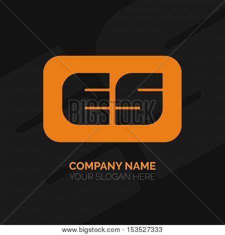 Creative E and S letter vector logo design. ES Vector sign. Character logotype symbols. Logo icon design