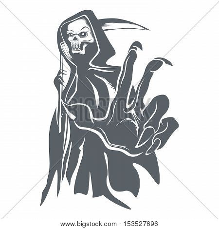 Grim Reaper Vector Halloween Creepy Dead Ghost