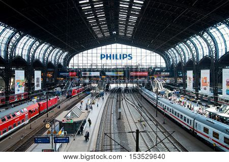 HAMBURG GERMANY - JUNE 12 2015: German regional express