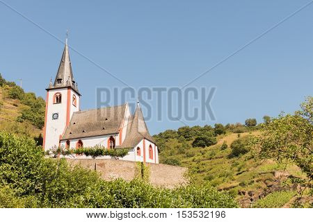 Church in Hatzenport at the Mosel in Germany.