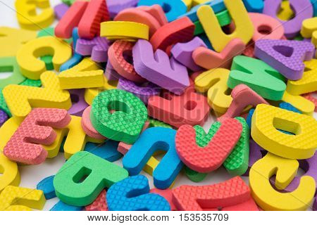 colorful letters of alphabet jigsaw puzzle horizontal