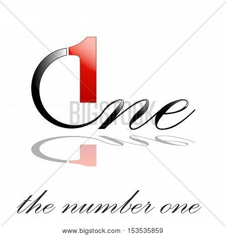 Vector sign number one the best, isolated logo