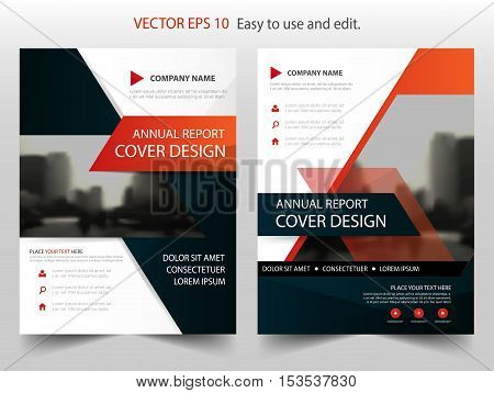 Red black abstract annual report Brochure design template vector. Business Flyers infographic magazine poster.Abstract layout template Book Cover presentation portfolio.